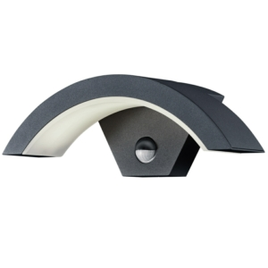 OHIO - IP54 9W LED Garden Wall Lights With PIR Sensor