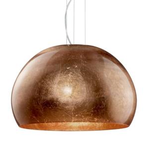 Ontario Copper Glass And Chrome Glass Pendant Light