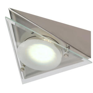 Veneto - Under Cabinet High Output LED Drop Glass Angled Tri-Light