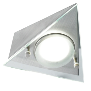 Sirius - Under Cabinet High Output LED Drop Glass Angled Tri-Light