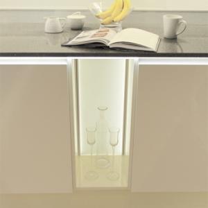 Kitchen Cabinet Illuminated LED Back Panel Tunable - Retrofit