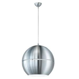 Globe Pendant Light Shades - Brushed Aluminium Metal Body