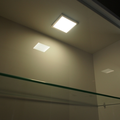 Flat led under cabinet lighting