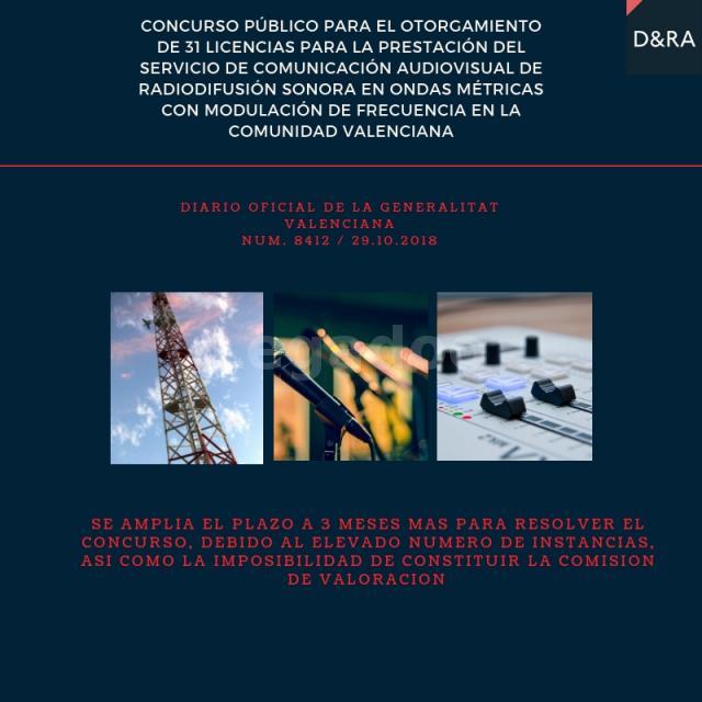 Concurso Radio FM Valencia. Ampliación de plazo para resolver