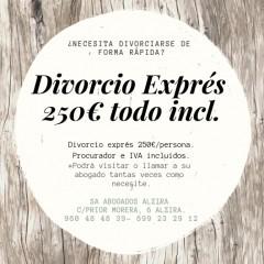 Oferta Divorcio Exprés. - Abogado Serrano