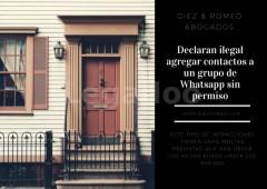 Diez Romeo_declaran ilegal agregar contactos al whatsapp sin permiso - Diez & Romeo Abogados
