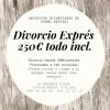 Oferta Divorcio Exprés. - Derecho de familia