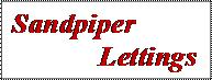 Sandpiper Lettings