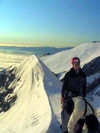 Odpočinek s krásným výhledem na hřebenLomničáku a Nízké Tatry