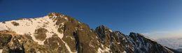 Pohled na Lomnický a Velký Kežmarský štít
