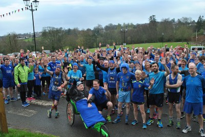 Armagh parkrun turns blue for Autism
