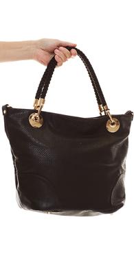 8902 sort taske med flet