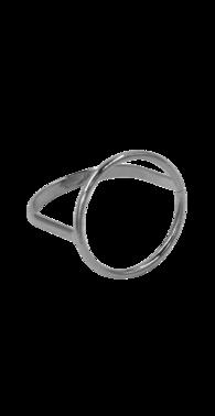 Fingerring med cirkel s%c3%b8lv