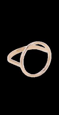 Fingerring med cirkel guld