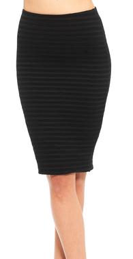 Sort elastik nederdel