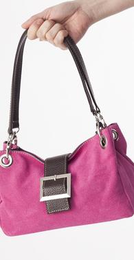 Pink ruskind taske