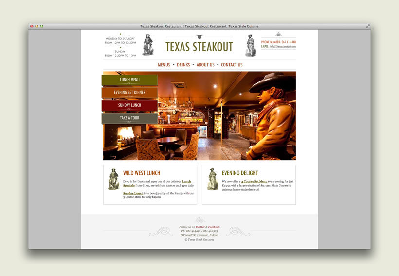 Texas Steakout | Website Design & Development
