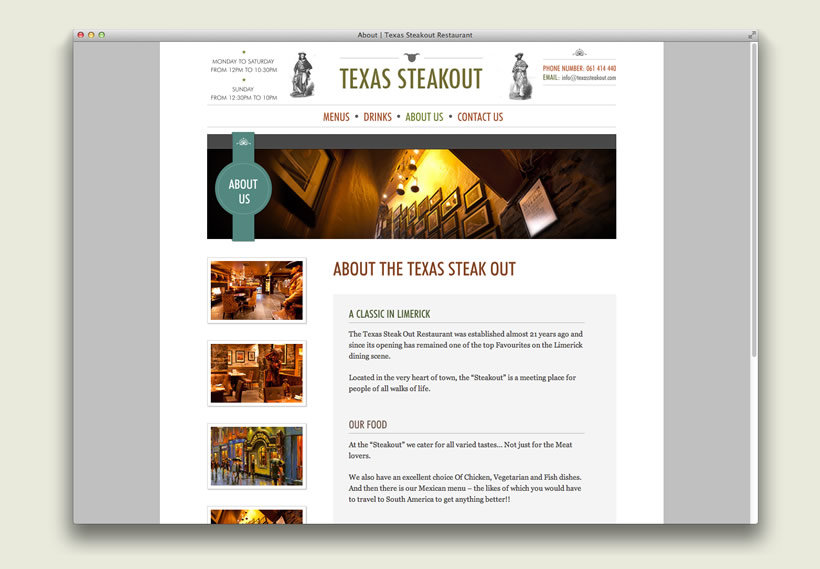 Texas Steakout | Content Management System