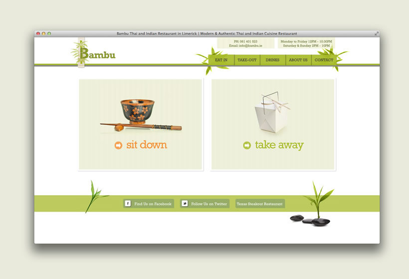Bambu Restaurant | Website Design & Development