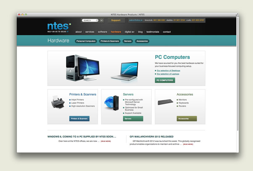 NTES IT Support | Hardware Section