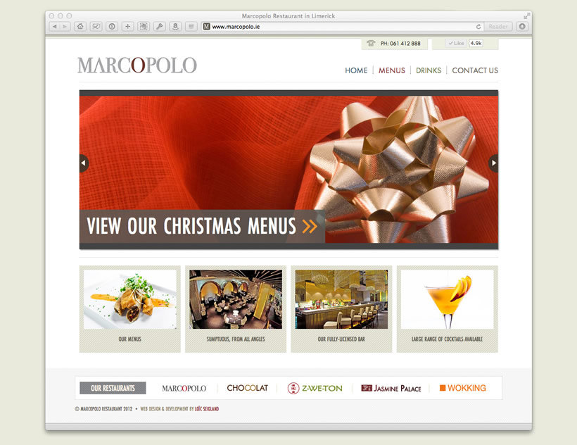 Marcopolo Restaurant | Web Design & Development