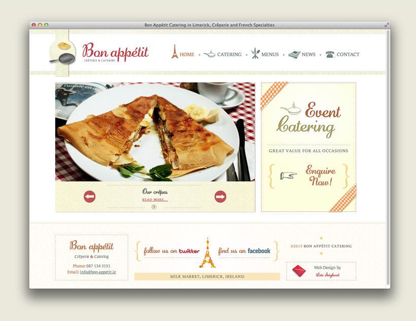 Bon Appétit Catering | Web Design & Development