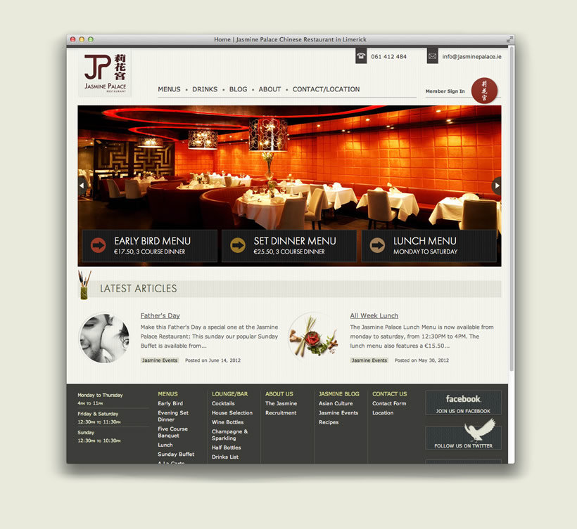 Jasmine Palace | Website Design & Development