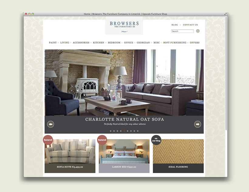 Web Design Development By Lo C Seigland Browsers Furniture Website Design Development