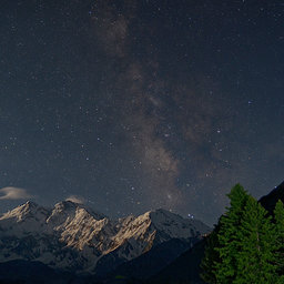 Milky way galaxy hunza