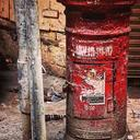 Old red letterbox
