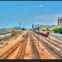 Railway tracks hdr