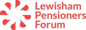 Lewisham Pensioners Forum red logo