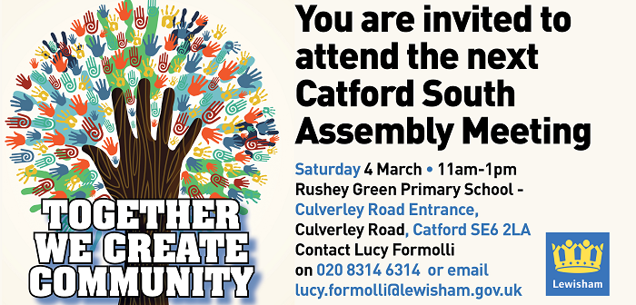 Catford South Assembly – What's happening at the meeting
