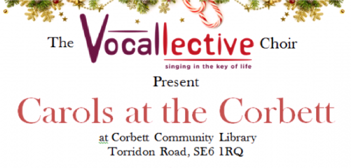 Carols at the Corbett Library Catford – with the Vocallective Choir