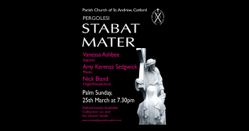 Palm Sunday 25th March 2018 – another music event at St Andrew's Catford