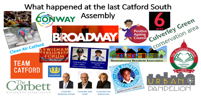Presentations from the Catford South Assembly – March 2018