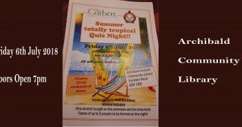Corbett Residents Association – Summer Totally Tropical Quiz Night
