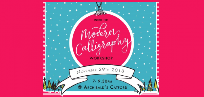 Modern Calligraphy Workshop 29 November 2018