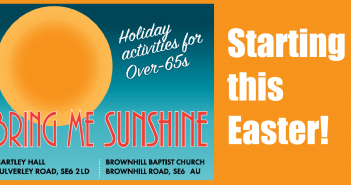Bring Me Sunshine – Holiday activities for over 65s Starting this Easter