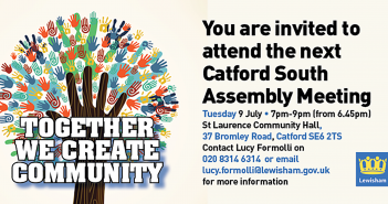 Catford South Local Assembly Meeting – 9 July 2019 – 7pm