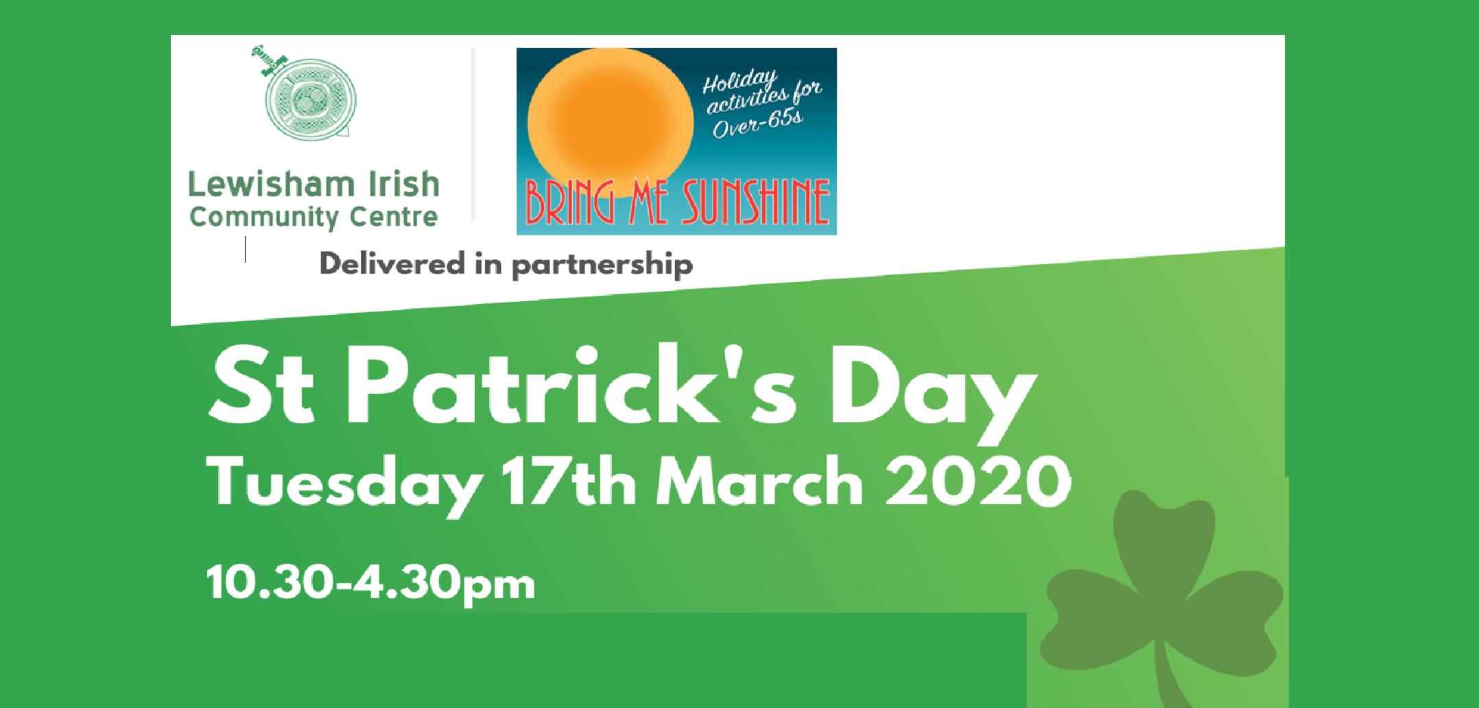 Bring Me Sunshine – St Patrick's Day Celebration for Older People