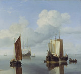 Calm: Fishing Boats under Sail