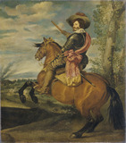 The Conde Duque de Olivares on a Chestnut Horse