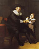 Jean Pellicorne with his son Caspar