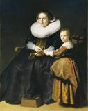 Susanna van Collen, Wife of Jean Pellicorne with her daughter Anna
