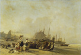 Boats on the Shore at Calais