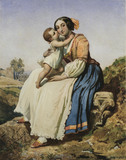 An Italian Peasant Woman and Child