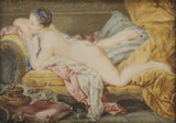 A Girl on a Sofa, after Boucher
