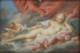 Venus and Cupid in the clouds