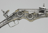 Detail from wheel-lock pistol with ramrod